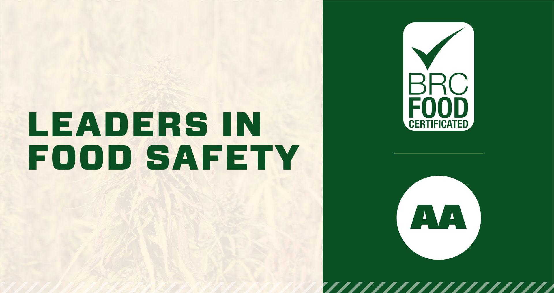 Hemp Oil Canada leaders in food safety