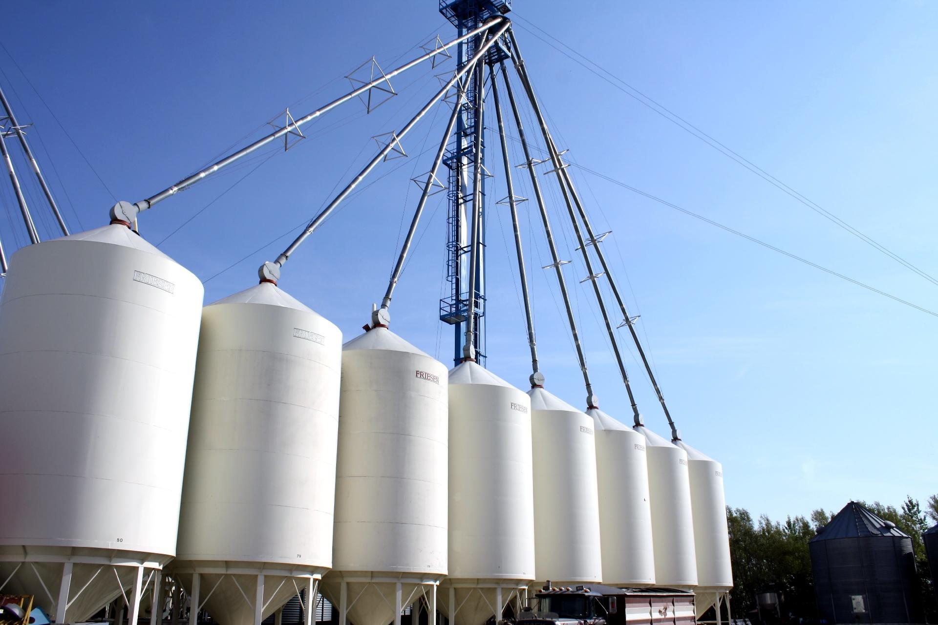 Hemp Oil Canada -  farmers hemp seed bins